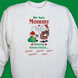 Kissing Santa Sweatshirt