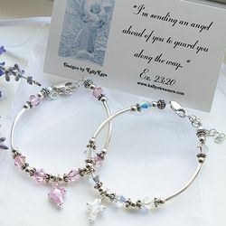 Child's Guardian Angel Bracelet with Scripture Card
