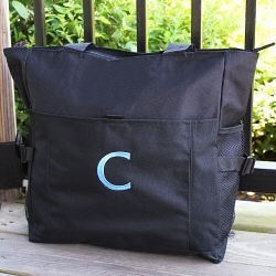 Embroidered Diaper Bag Tote