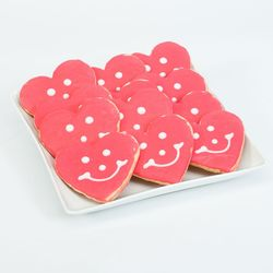 Heart Smiley Cookies