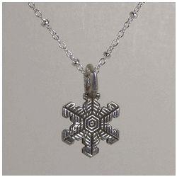 Snowflake Pendant on Delicate Silver Chain