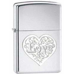 Love High Polish Chrome Zippo Lighter