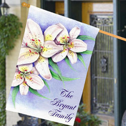 Personalized Lily House Flag