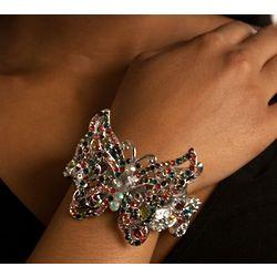 Prismatic Rainbow Butterfly Bracelet