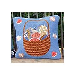 Shell Basket Kedron Design Pillow