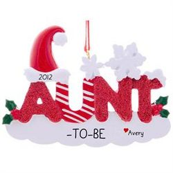 Aunt-to-Be Personalized Christmas Ornament