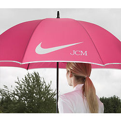 Lady's Personalized Nike Pink Golf Umbrella