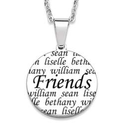 Stainless Steel Friend Necklace with Names