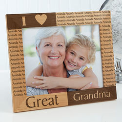 Personalized Great Grandparents Picture Frame