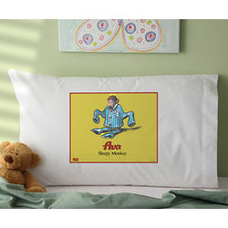 Curious George Personalized Pillowcase