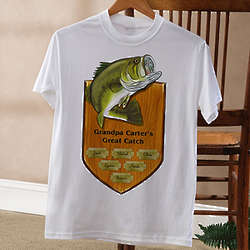 Personalized Fisherman's Plaque Fishing T-Shirt