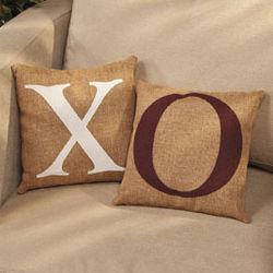 X and O Throw Pillows