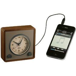 Retro Travel Alarm Clock and MP3 Speaker
