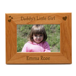 Daddy's Little Girl Personalized 4x6 Picture Frame