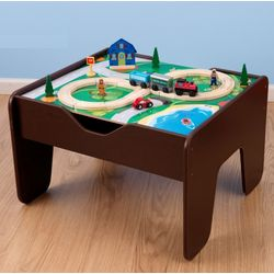 2 in 1 Activity Train Table and Lego Play Board