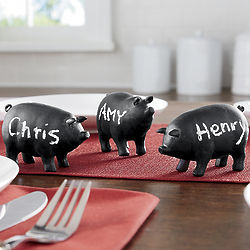Tabletop Chalkboard Mini Pigs