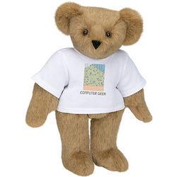 "15"" Teddy Bear in Computer Geek T-Shirt"