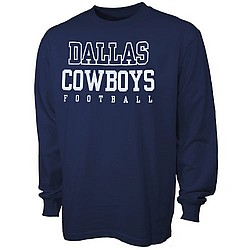 Dallas Cowboys Navy Blue Youth Practice Long Sleeve T-Shirt