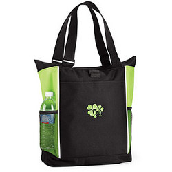 Zippered Shamrock Tote Bag