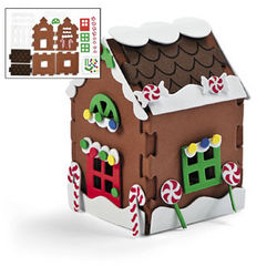 3-D Gingerbread House Craft Kit