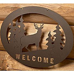 Whitetail Deer Welcome Sign