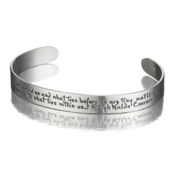 """What Lies Within Us"" Sterling Silver Cuff Bracelet"