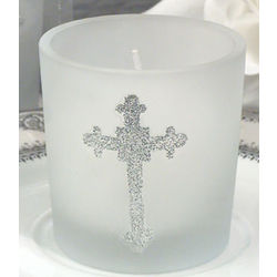 Blessed Events Cross Candle Holder