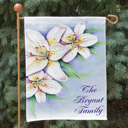 Personalized Lily Welcome Garden Flag