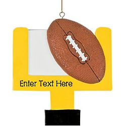 Personalized Football Goalpost Ornament