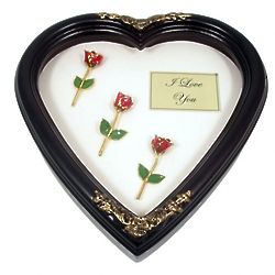 Personalized Past, Present and Future Rose Remembrance Heart