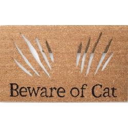 Beware Of Cat Cut Out Doormat