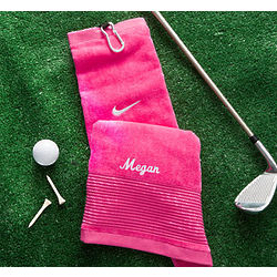 Lady's Personalized Nike Pink Golf Towel