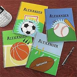Boy's Personalized Sports Notebooks
