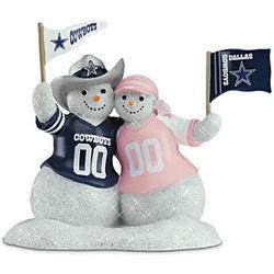 NFL Dallas Cowboys Snowman Figurine