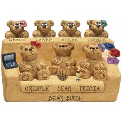 Customized Family Bears on a Couch Figurine