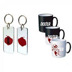 Dexter Heat Sensitive Mug and Blood Slide Keychain Set