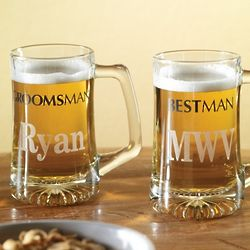 Best Man or Groomsmen Wedding Beer Mug