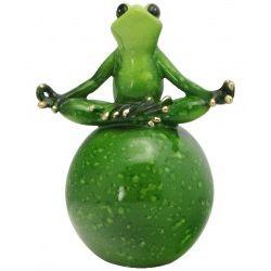 Meditating Zen Green Frog Statue