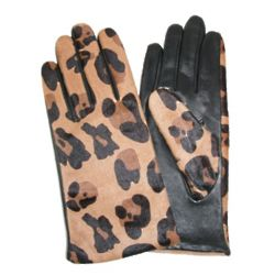 Cheetah Aloe Leather Glove