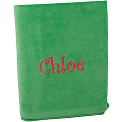 Personalized Lime Beach Towel