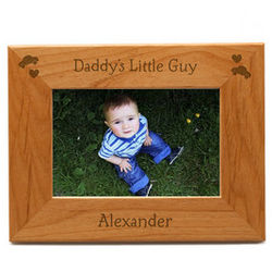 Daddy's Little Guy Personalized Picture Frame