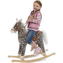 Plush Dapple-Gray Horse Rocker