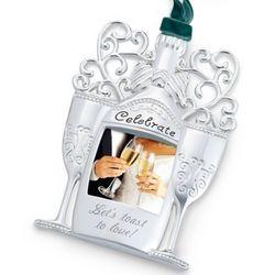 Celebrate Champagne Bottle Engravable Ornament