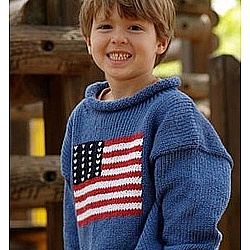 American Flag Cotton Sweater