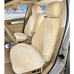 Custom-Tailored Sheepskin Seat Cover