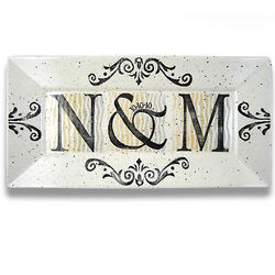 Personalized Initials Wedding or Anniversary Platter