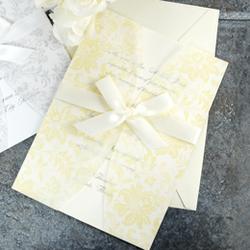 Laura Ashley Butter Cream Jacket Invitation Kit