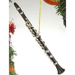 Black Clarinet Musical Ornament