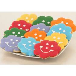 Bloomin' Brilliant Flower Smiley Cookies
