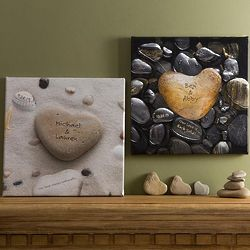 Heart Rock Personalized Canvas Wall Art